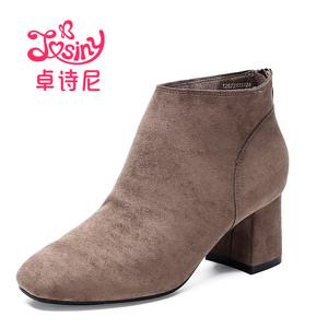 天猫优惠券后31元,卓诗尼冬靴粗高跟韩版百搭欧洲站及踝靴裸靴女士鞋短靴126721335