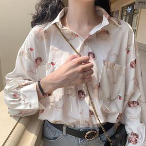 天猫优惠券后55.8元,2020年春季新款BF风复古宽松显瘦少女设计感衬衣上衣长袖学生衬衫
