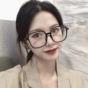 天猫优惠券后19元,黑框眼镜女网红款防辐射抗蓝光方形眼镜大脸显瘦脸小配近视眼睛架